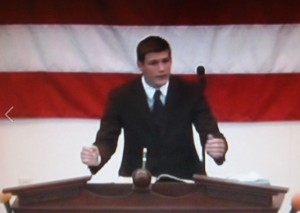 Evangelist Ethen Greene of Bibleway Baptist Church in Boone NC